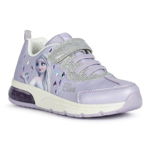 SNEAKERSY GEOX SPACECLUB FROZEN LILAC/SILVER LED LIGHTS