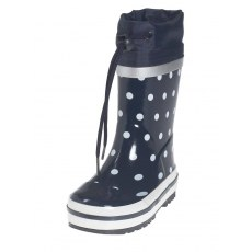 RAIN BOOTS PLAYSHOES NAVY BLUE WITH DOTS 181767-11