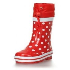 RAIN BOOTS PLAYSHOES RED WITH DOTS 181767-8
