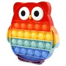 PUSH BUBBLE FIDGET POP IT OWL D38394