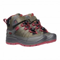 SHOES KEEN REDWOOD MID WP STEEL GREY/RED DAHLIA