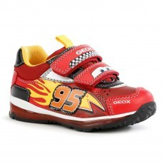 SNEAKER GEOX TODO CARS RED/BLACK LED LIGHTS