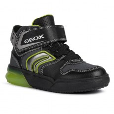SHOES GEOX GRAYJAY JUNIOR BOY BLACK/LIME LED LIGHTS