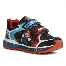 SNEAKER GEOX ANDROID BLACK/SKAY SUPER MARIO LED LIGHTS