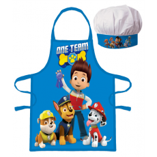 PROTECTIVE APRON WITH CHEF HAT PAW PATROL (1060)