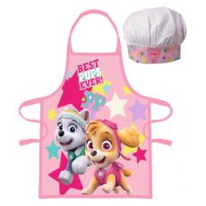 PROTECTIVE APRON WITH CHEF HAT PAW PATROL (1059)