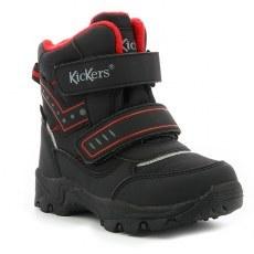 SHOES KICKERS JUKKRO BLACK RED WATERPROOF
