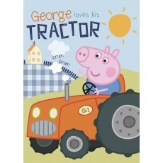 FLEECE BLANKET 100 X 140 CM PEPPA PIG GEORGE LOVES HIS TRACTOR (036)