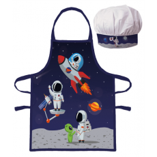 PROTECTIVE APRON WITH CHEF HAT COSMOS (023)