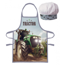 PROTECTIVE APRON WITH CHEF HAT TRACTOR (035)