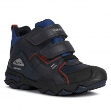 SHOES GEOX BULLER ABX NAVY/DK RED