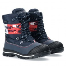 TOMMY HILFIGER SNOW BOOT BLUE/RED/WHITE WATERPROOF