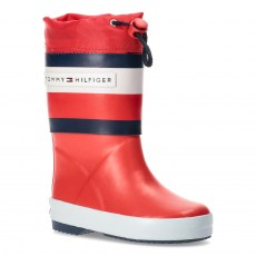 TOMMY HILFIGER RAIN BOOT RED